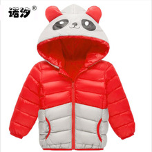 child clothes kids autumn spring thin cotton jacket boys panda Hooded coat children warmly clothes girls cute tops outwear