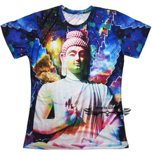3d t shirt Galactic Buddha trippy space galaxy weed leaf t shirts women men summer casual tees tops plus size S-3XL
