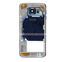 Silver Housing Loud Speaker Middle Plate Module Frame For S6 SM-G920F G920F Single SIM Card Phone Repair Part