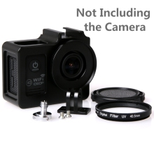 Soocoo c30 Accessories Alloy cage Protective Housing Case Cover bag Metal frame+UV filter for SJCAM SJ4000 SJ5000 H9 SJ7000 9000(China)