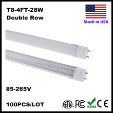 4ft LED Tube 28W 22W 18W Tubes LED Light 4 Feet FT T8 LED Tube Light Wholesale Cold White Clear Cover Milky Cover AC85-265V(China)