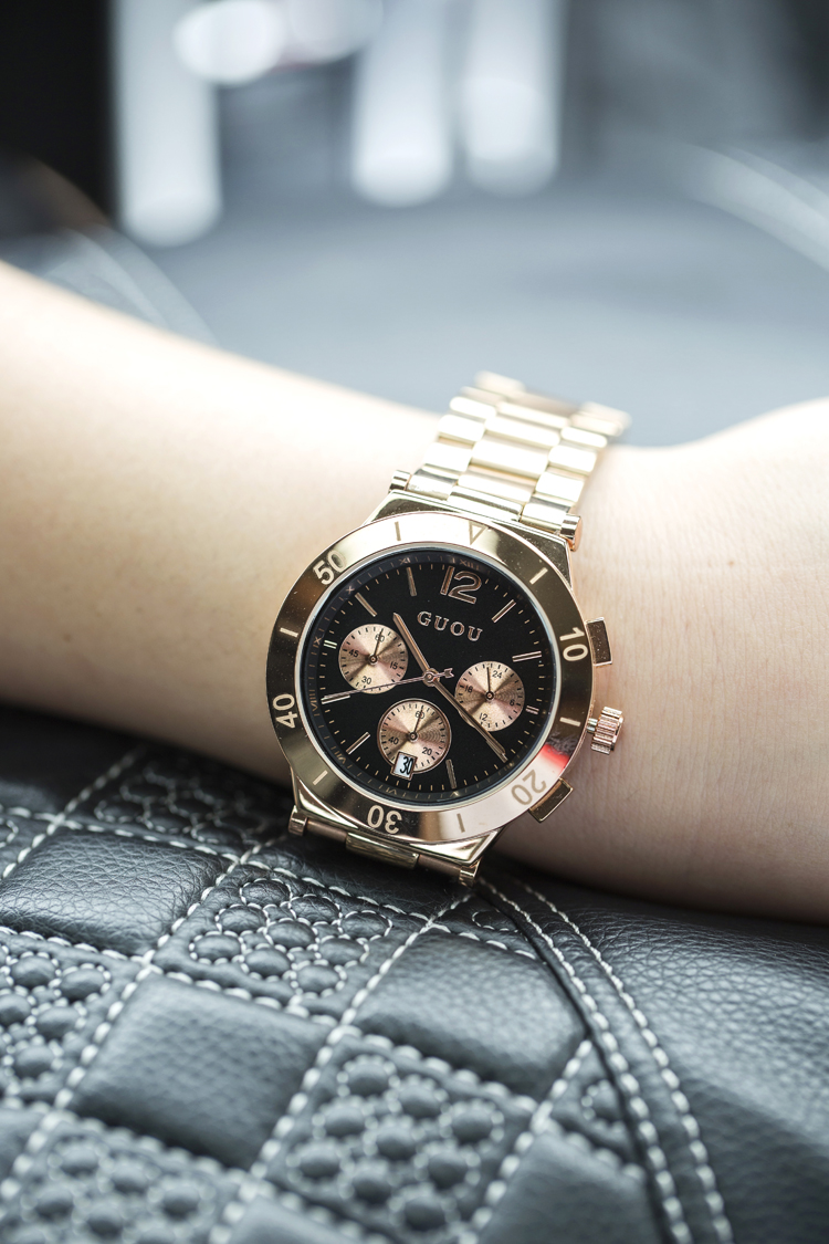 Female Watch Quartz-watch High-Grade With calendar Ladies Watch Stainless Steel Strap Personality Large dial Watches Women<br><br>Aliexpress
