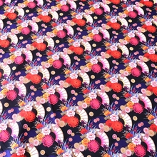50X145cm 19''*54'' width japanese wind fabric flower design twill peach skin for diy sewing patchwork bag fabrics(China)