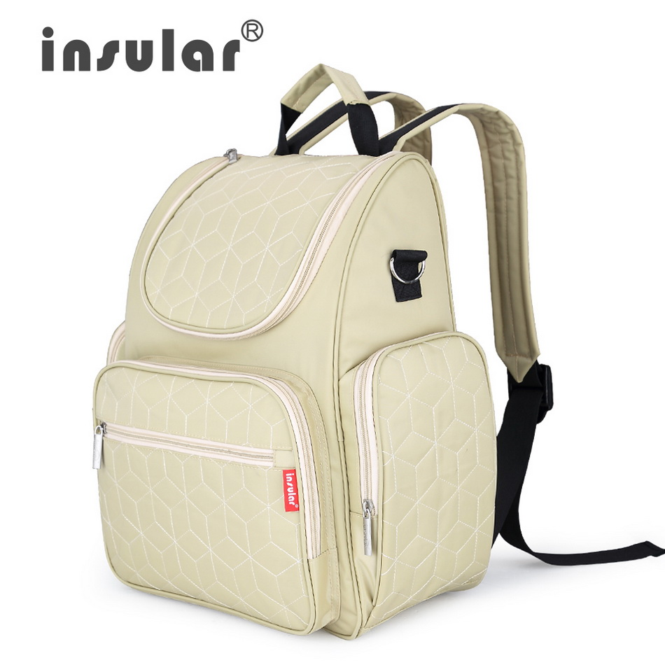 Insular Elegant Baby Diaper Backpacks Bags Nappy Stroller Bags Multifunctional Maternity Changing Bags For Mommy Women Backpacks<br>