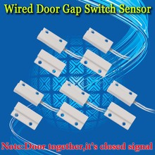 Free Shipping!5 pcs MC-38 Wired Door Window Sensor Magnetic Switch for Home Alarm System When sensor is open,normally open No