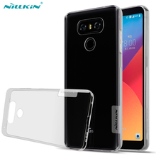 For LG G6 Case,NILLKIN Nature clear TPU Ultra Thin Case For LG G6 Soft Back cover case(China)