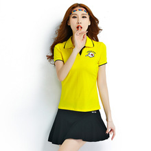 High-end Woman Tennis Shirt Full Cotton Breathable Sports Training Exercisin Suits Lady Fitness Short Sleeves Gym T Shirt Sets