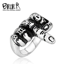 Beier new store 316L Stainless Steel ring top quality iexquisite men accessory fashion jewelry LLBR8-229R