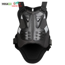 WOSAWE Motorcycle Body Protector armor Motocross chest shield Body Armor motoc vest Spine Chest Protective Jacket mens Gear(China)