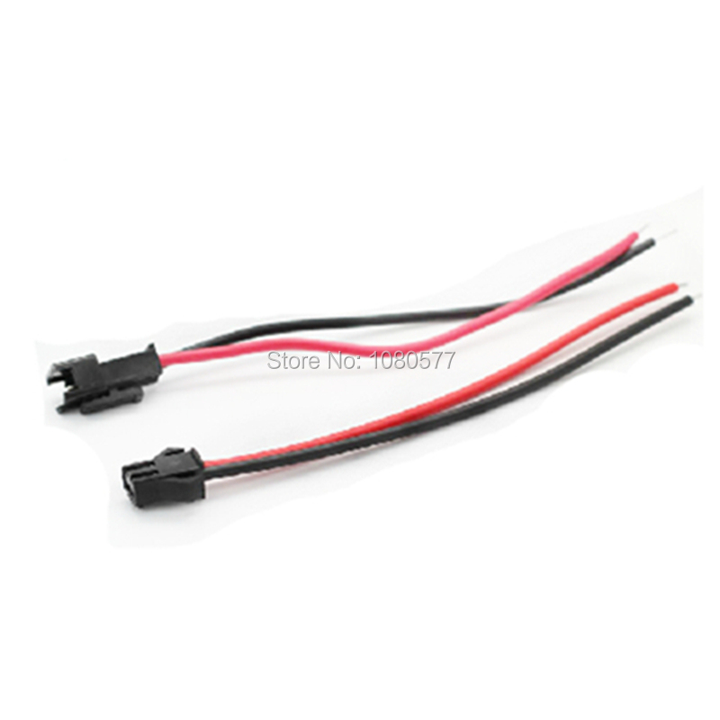 10pairs Lot SM 2pin Male Female Docking LED Power Supply Terminal Cable 20cm