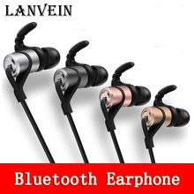 Buy LANVEIN Bluetooth headphones Magnetic earphone wireless bluetooth headset sports stereo bass music earbud phone mic for $16.99 in AliExpress store