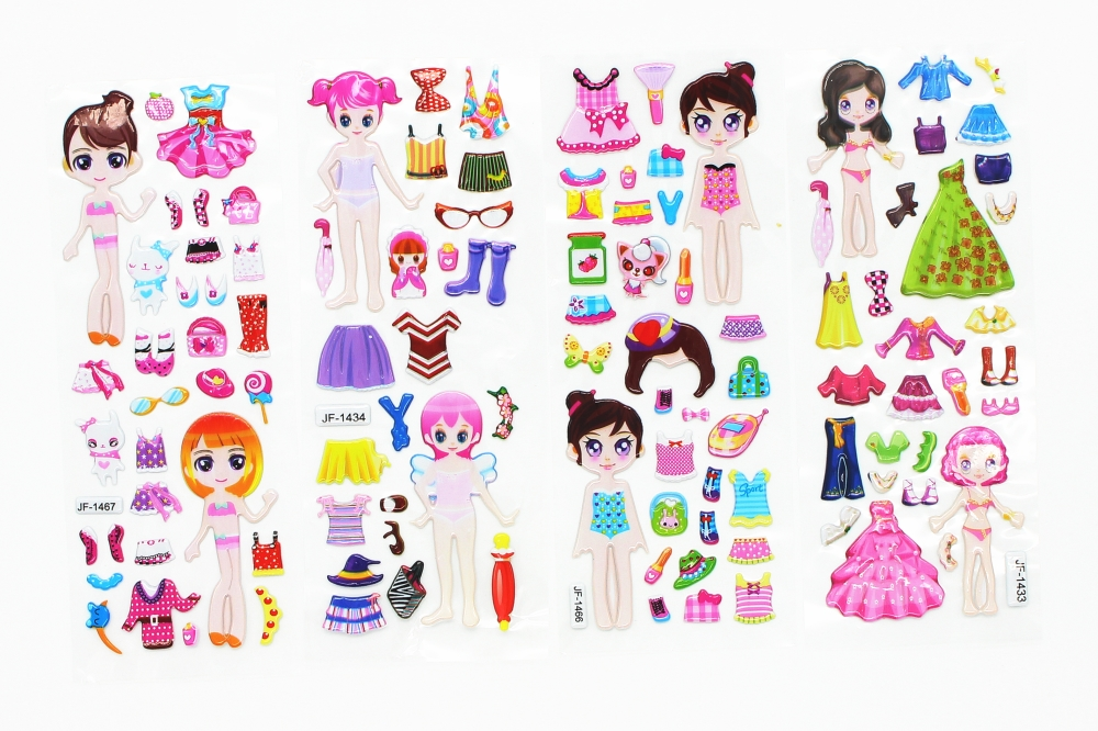 8-Sheets-Princess-Dress-bubble-stickers-Cute-DIY-Stickers-Lovely-Girls-Dress-up-Girl-Changing-Clothes (3)