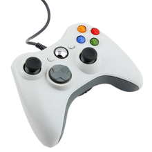 White Wired USB Digital Cable Game Pad Joypad Controller For Xbox 360 Slim PC Games Free Shipping
