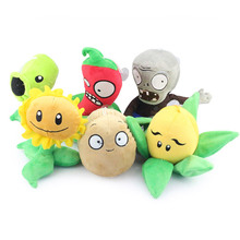 Retail 1 Piece 13-25cm Plant vs Zombies Plush Dolls Toys Gifts for Children Kids Free Shipping(China)