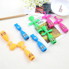 12pcs/lot Creative Dwarf Pencil Sharpener Funny Cartoon Purpose Pencil Sharpener for School Supplies Kids Gift(China)