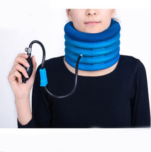 2017 Hot Neck cervical traction device inflatable collar Head Back Neck support brace Pain relief Headache health care massage