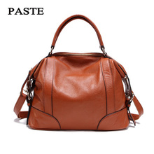 2 Sizes Fashion Tote Bag for Women New Classic Leisure Handbag Genuine Cow Leather Female Messenger Bags bolsa feminina 1006