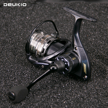 DEUKIO carp fishing Double Ratio real 10+1BB Stainless steel Ball bearings fishing reels SG11 size 2000-4000  spinning reel