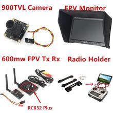 RC Fpv Kit Combo System 900TVL Camera + 5.8Ghz 600mw 48CH VTx VRx + 800x480 HD Snow Monitor + Radio holder for RC Car