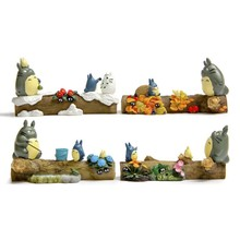 4Set/lot Four Season Totoro Mini Figures Toys My Neighbor Totoro Toy Hayao Miyazaki Resin Action Figures Collection Model Toy