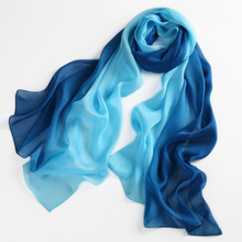 Women 100% Natural Silk Scarf Shawl Female Pure Silk Scarves Wraps Thin models Plus Size Shawls Long Beach Cover-ups 180*68cm(China)
