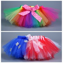 Ballet The Baby Girl Clothes  2 Color Optional New Tutu Skit  Girl Skits Rainbow Color  The American flag Pattern