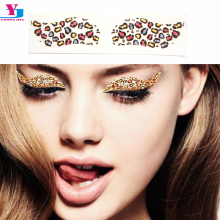 Sexy Leopard Eyeshadow Fake Tattoo Water Transfer 2pairs/box Eyeliner Temporary Taty Stickers DIY Make Up Party Body Decoration