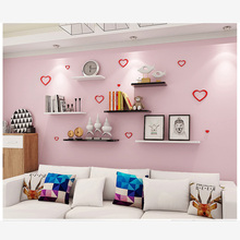 3 Pieces Modern Minimalist Partition Book Wall Shelf Living Bedroom Hanging Wooden Storage Shlef Stock in US(China)
