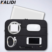 KALIDI Laptop Sleeve Bag Waterproof Notebook case bags For Macbook Air 13 Pro 13 15 Retina Surface pro handbags Laptop Case 15.6(China)