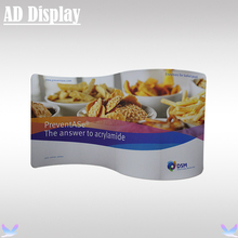 400*228cm S Shape High Quality Tension Fabric Advertising Display Banner Stand With Your Own Design Full Color Printing(China)