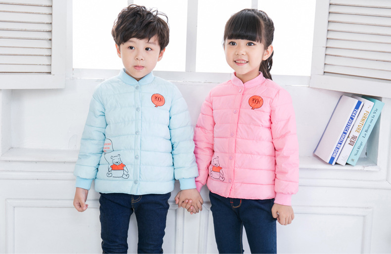 Kindstraum 2017 New Children Cartoon Parkas Winter Kids Thick Down Wear Fashion Single Breasted Coats for Girls,RC1523