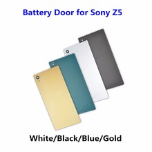 1PCS NEW Battery Door for Sony Xperia Z5 E6603 E6633 E6653 E6683 Back Glass Cover Rear Housing Case Replacement Part