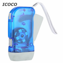 flashlight Brand New Flashlight 3 LED Hand Pressing Dynamo Crank Power Wind Up Torch Light Hand Press Crank Camping Lamp LightS