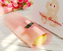 200 Pink Stripe Wax Paper,Coating Greaseproof,For Sandwich Hamburger Food Candy Gift Soap Wrap Packaging,21.8x24.8cm