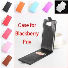 Litchi Grain High Quality Luxury Leather Cases For BlackBerry Priv Case Vertical Flip Housing for BlackBerry Priv Cover In Stock(China)