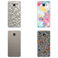 Signature wall of Paris Cute 3D Colorful Fish Scales Case For Samsung 2016 A5 Case Hard Back Cover Coque For Samsung  S6 S7 S8
