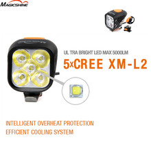 MagicShine MJ906 MJ-906 5*Cree XM-L2 LEDs max.5000 lumens 20 degree wide angle beam with battery pack