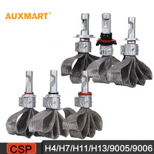 Auxmart 5S H4/H7/H11/H13/9005/9006 8000LM 72W 6500K LED Car Headlight copper belt Hi-Lo/Single Beam Headlamp 12 24v 4x4 4WD 2WD