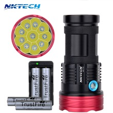 NK-T10 10T6 Flashlight 18650 11000LM 10x CREE T6 waterproof recharger Torch light for 4x 18650 Battery Hiking/Hunti