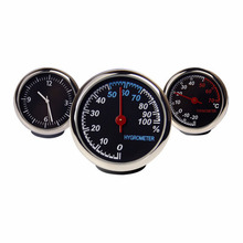 Hygrometer Auto Thermometer Car Ornaments Motorcycle watch Car Clock Mini Monitor Automobile Clock Machine hours Useful Monitor