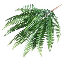 Large Green Imitation Fern Plastic Artificial Grass Leaves Plant Home Decor