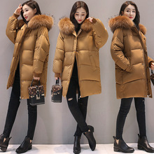 2017 New Fashion Hooded Larger Fur Collar Women Winter Jackets and Coats Female Cotton Padded Long Parkas Ladies Snowwear
