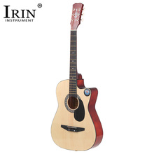 IRIN 38 Inch 18 Frets Basswood Back Maple Wood Fingerboard Folk Acoustic Guitarra Electric Bass Guitar Ukulele with Case Bag(China)