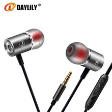 Daylily headphones microphone fone de ouvido Sport earphone auriculares phone bass Earphones Metal microphone music headset pc(China)