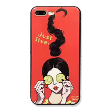 Phone Case for iphone 5 s se 6 6s 7 7plus Charm Female Ultra thin Silicone 3D Relief Cartoon Korea Girl Lemon Food Capa coque