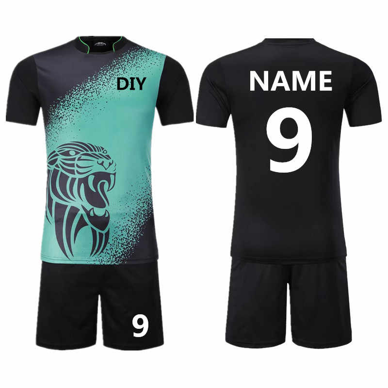 7452ab32854 Youth Kids Survetement Football Jerseys Sports Kit Adult Mens Soccer  Jerseys sets DIY Uniforms Tennis Shirts