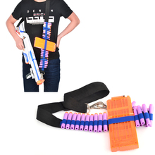 Rowsfire Bandolier for Nerf N-strike Elite Series Adjustable Soft Bullet Tactical Belt Dart Ammo Storage Shoulder Strap - Blue(China)