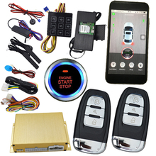 mobile phone 2 way car alarm system with intelligent car security gps tracking location keyless go start(China)