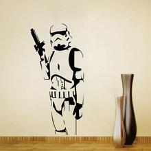 L9 Star Wars Large Wall Decals Silhouette DIY Home Decoration Mural Removable Bedroom Stickes free shipping hot
