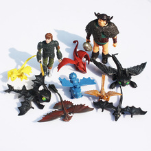 10pcs/set 5-12cm How to Train Your Dragon 2 Toothless Night Fury PVC Action Figure Toys Dolls
